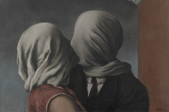 The Lovers (1928) by Rene Magritte; oil on canvas (MoMA) The Mantle