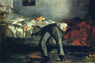 """The Suicide"" (Le Suicidé) (c. 1880) by Edouard Manet The Mantle image"