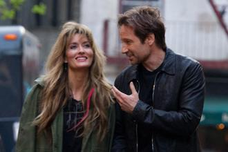 Hank Moody and his ex-wife in Californication The Mantle