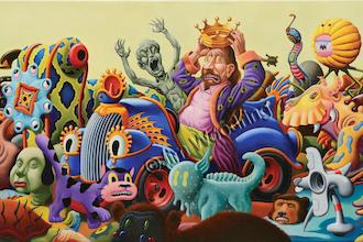 Jim Woodring oil painting