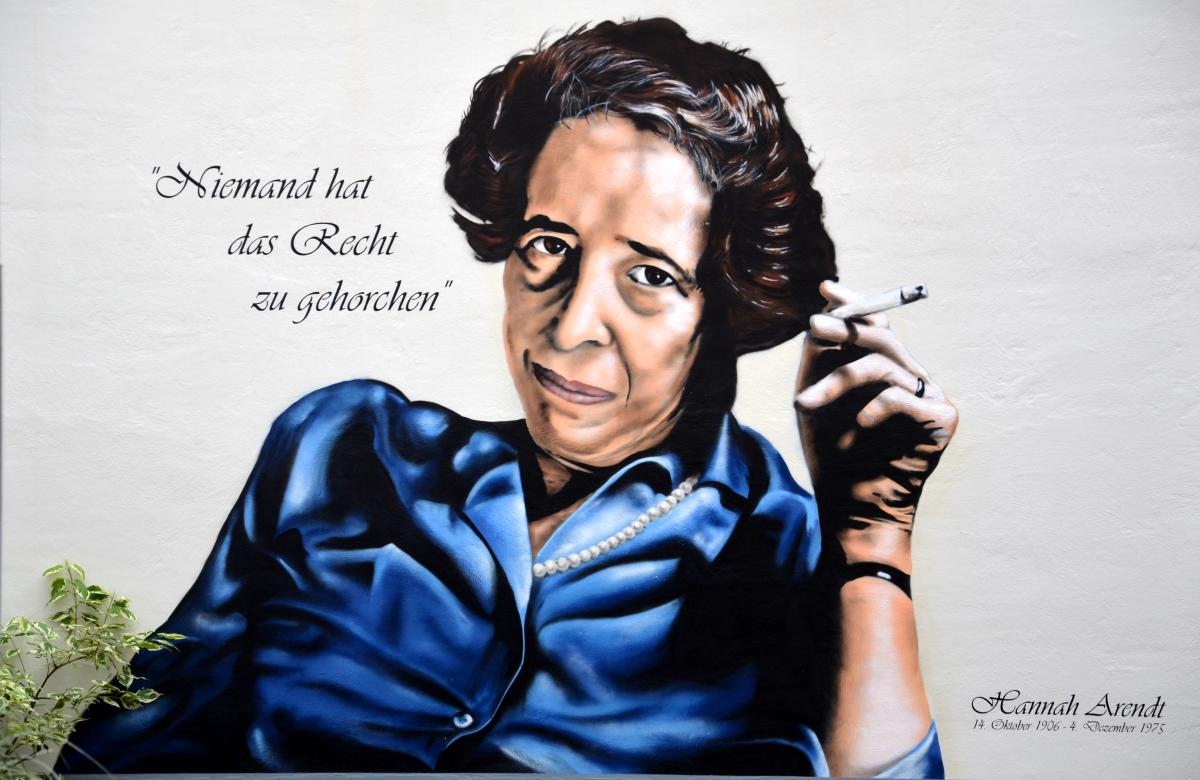 Hannah Arendt graffiti - Arendt was once stateless The Mantle