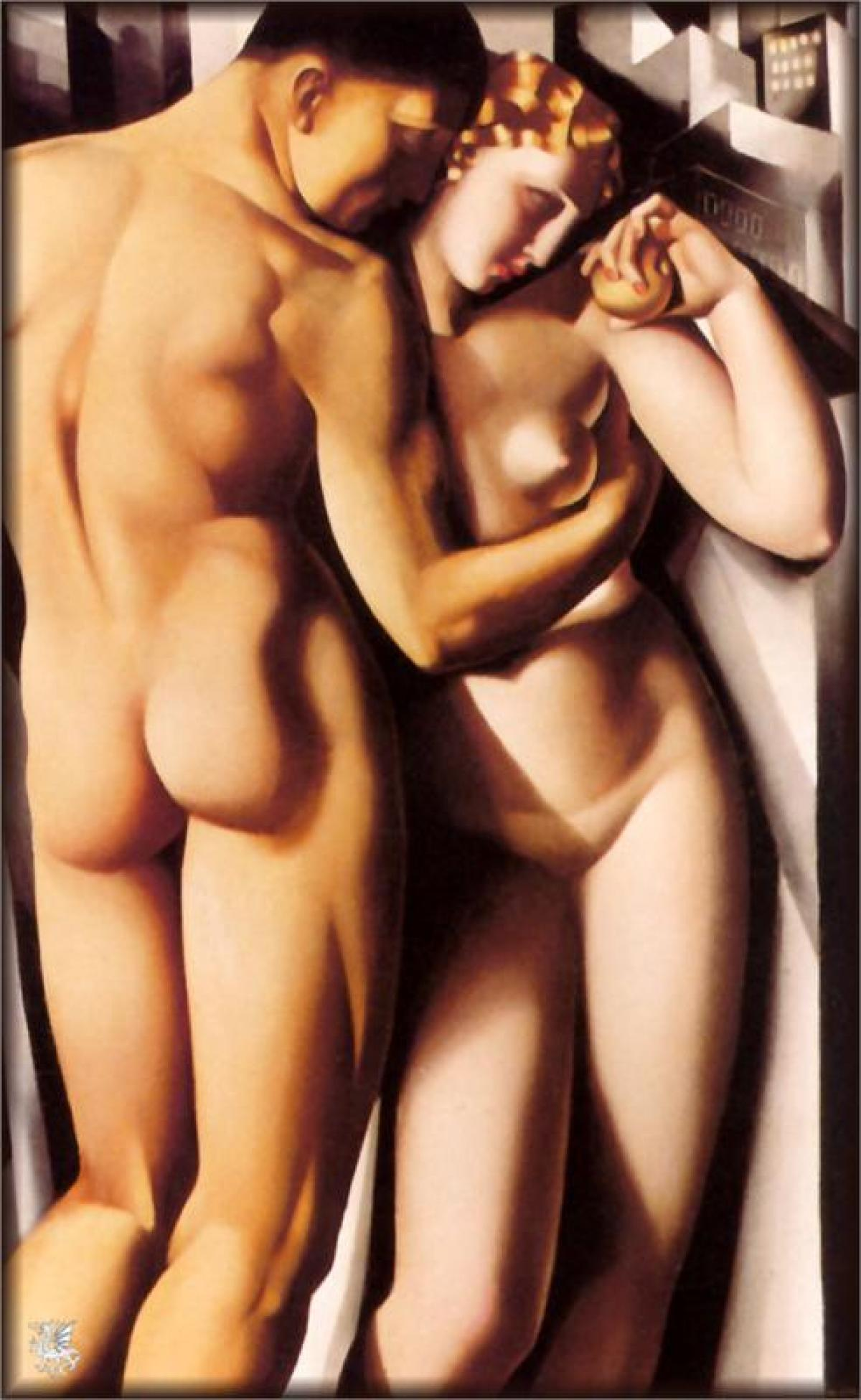 Adam and Eve (1932) by Tamara de Lempicka The Mantle