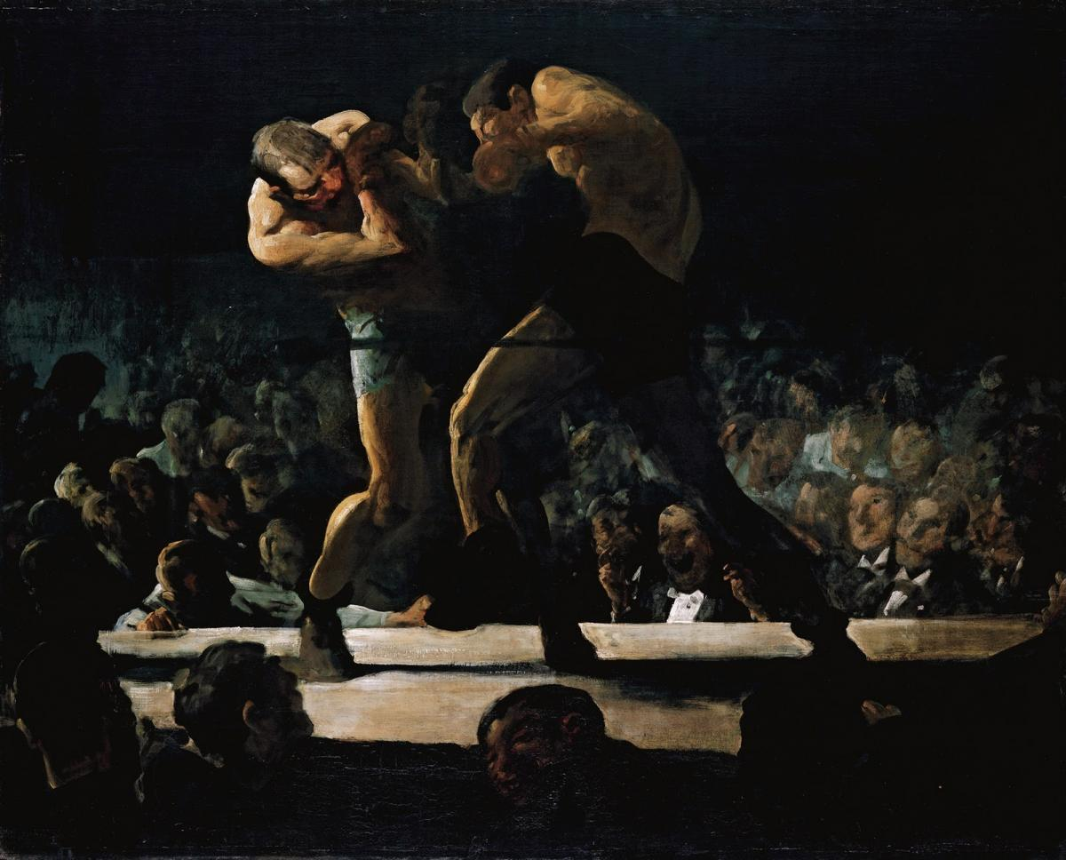 Club Night (1907) by George Bellows The Mantle