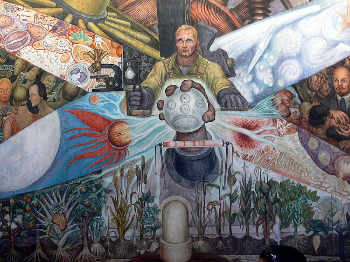 Man, Controller of the Universe (1934) by Diego Rivera The Mantle