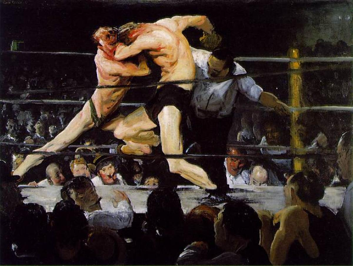 Stag at Sharkey's (1909) by George Bellows The Mantle