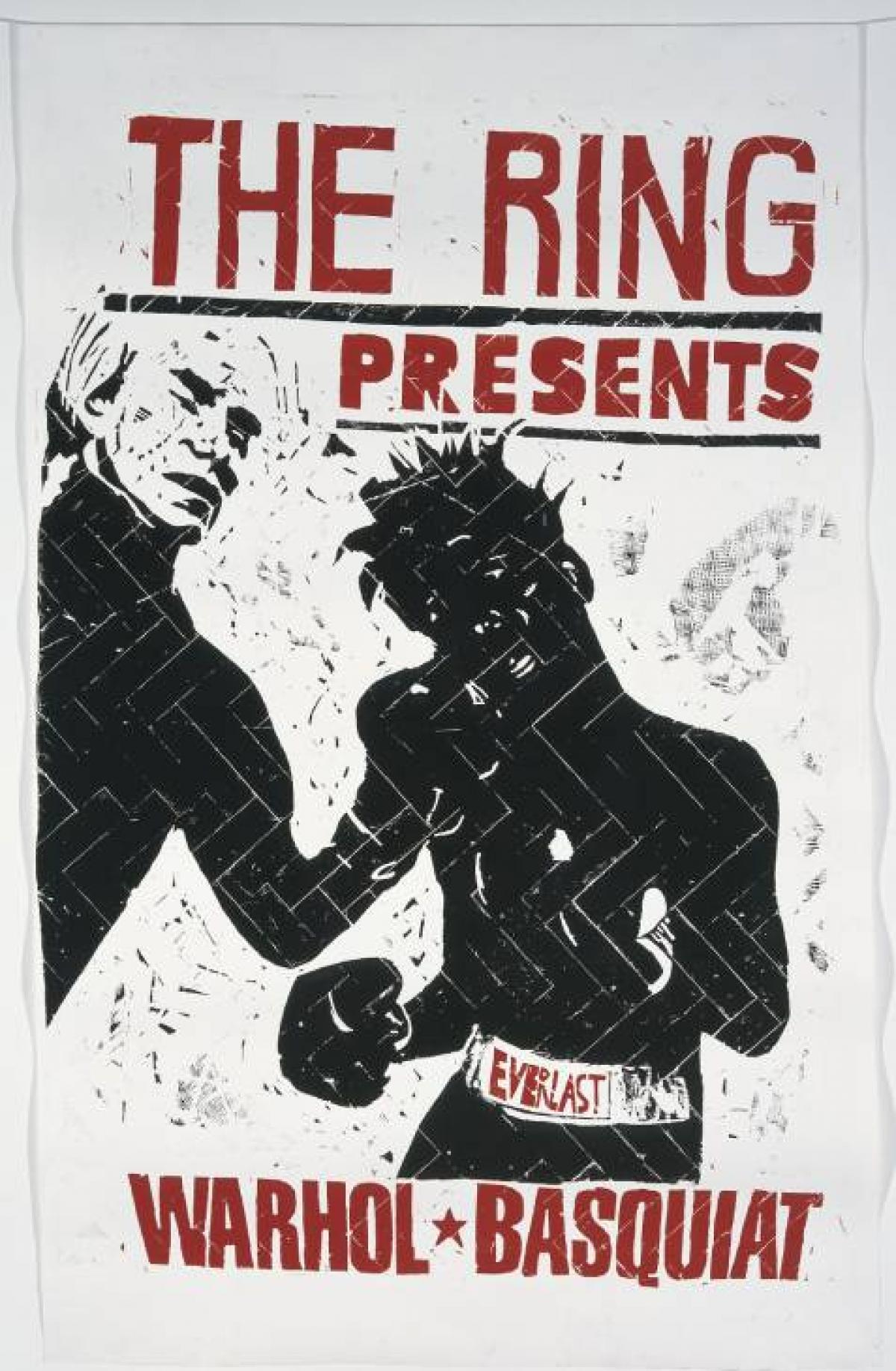 Jean-Michel Basquiat and Andy Warhol boxing poster The Mantle