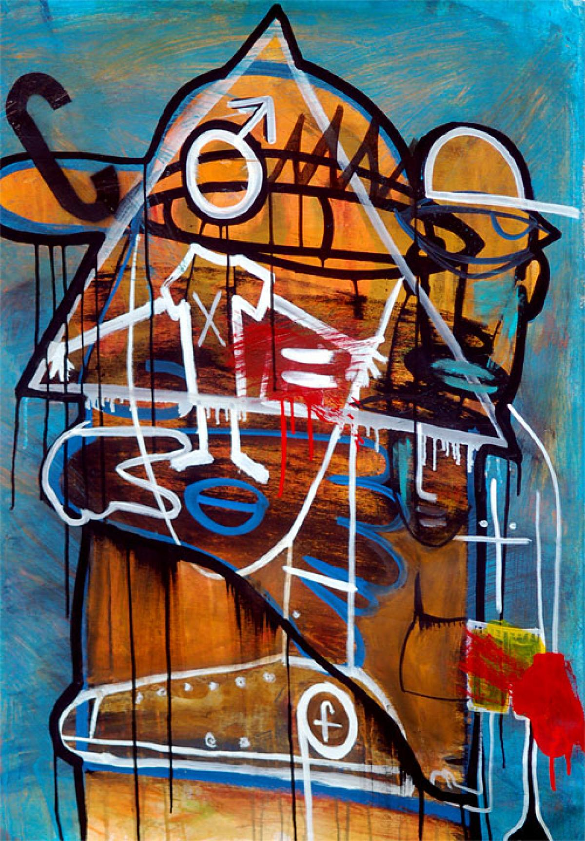 The Fighter by Jean-Michel Basquiat The Mantle