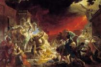 Karl Briullov - Last Day of Pompei (1833) and what we can learn from Epicurus